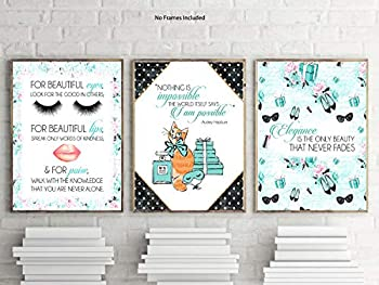 Silly Goose Gifts Fashion Breakfast Audrey Cat Themed Room Wall Art Prints Poster Decor  Never Alone