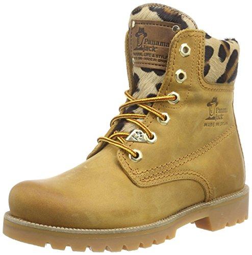 Panama Jack Panama 03 Leopardo dames koud gevoerd biker boots halfhoge laarzen & laarzen