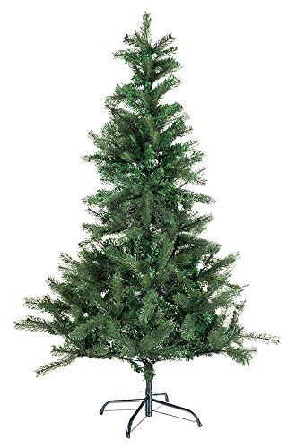 Hiskøl 120 cm Spritzguss-PVC Mischung ca. 244 Astspitzen Künstlicher Weihnachtsbaum Tannenbaum Christbaum inklusive Christbaumständer, grün