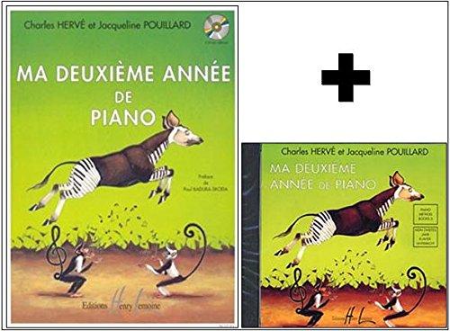Méthodes et pédagogie LEMOINE HERVE Charles/POUILLARD Jacqueline - Ma deuxième année de piano + CD