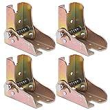 Gamba del letto del tavolo di estensione della serratura 4PCS, accessori per mobili di spessore pieghevole 2.3mm del piede del divano letto in acciaio laminato a caldo