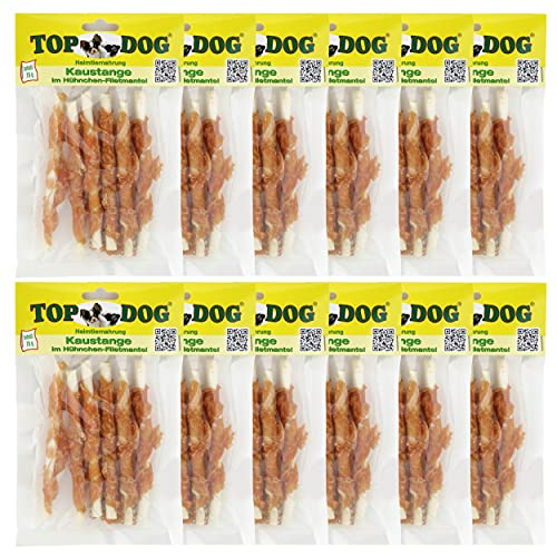 TOP Dog Kaustangen im Hähnchenfiletmantel 70g - TOP Dog Chewing Sticks with Chicken 70g (12x 70g)