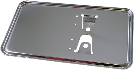 Kennzeichenhalter Platte In Chrom 100x175 Mm Auto