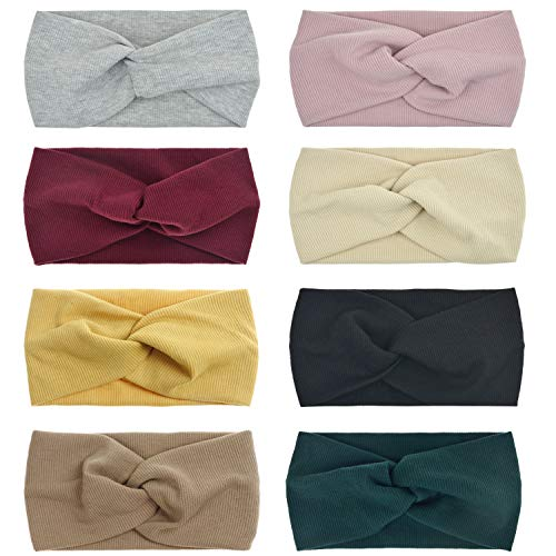 dreshow 8 pack womens headbands headwraps