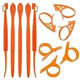 TOYMIS 11 Uds Pelador De Naranja, Removedor De Cítricos, Cortador De Rebanador De Plástico Fácil Abridor De Frutas, Aparato De Cocina Para Avacados De Naranja