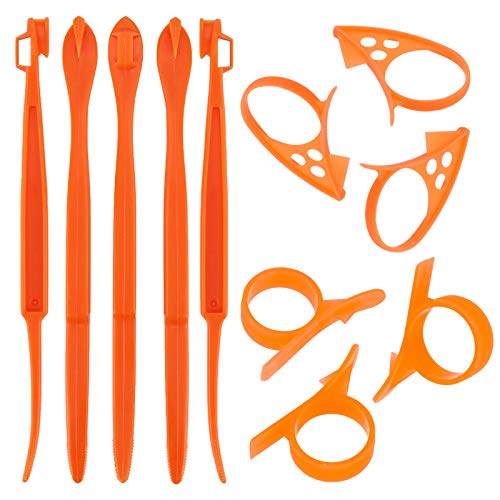 TOYMIS 11pcs Orange Peeler Citrus Remover Plastic Slicer Cutter Easy Fruit Opener Kitchen Gadget for Orange Avacados