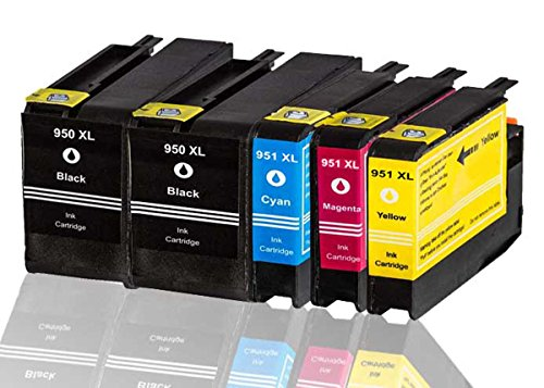 5 x Druckerpatrone Kompatibel zu HP 950XL 950 XL 951XL 951 XL kompatibel (2x Schwarz , Cyan ,Magenta , Gelb)