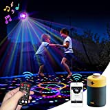 Cordless Trampoline Lights with Bluetooth Music, Large Size 9 Colors LED Lights with...