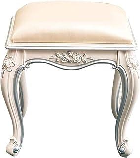 Skrivbordstol Dressing hocker makeup pall soffa vit snidad sko omslutande pall matbord stol frisör pall (färg: A)