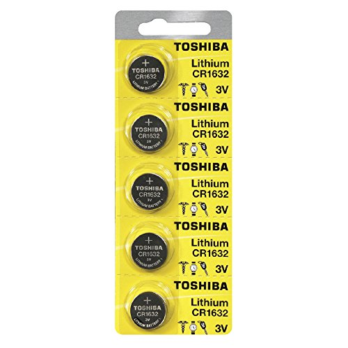 Toshiba CR1632 Battery 3V Lithium Coin Cell (5 Batteries)
