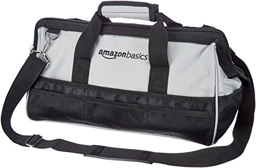 AmazonBasics Durable WearResistant Base Tool Bag with Strap Large 17 Inch
