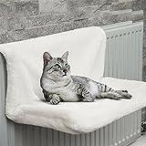 Shoplifemore Fuerte y duradero gato gatito cachorro mascota animal colgante Radiador cama colgante invierno cálido cesta hamacas (blanco)