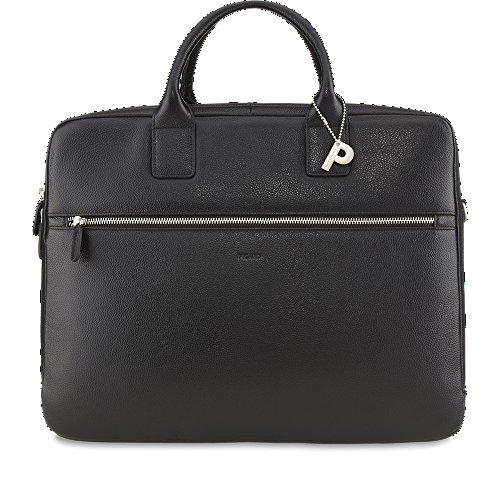 Picard Milano schwarz 8083 , Leder Aktentasche Umhängetasche Henkeltasche mit Laptopfach Tasche Ledertasche Businesstasche Notebooktasche