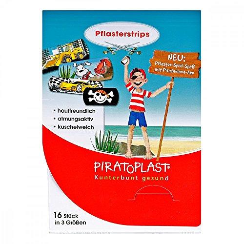 Piratoplast Pflasterstrips für Jungs, 16 St