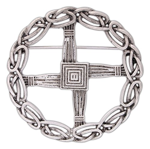 Quantum Mfg Pewter St. Bridget's Cross Pin/Pendant