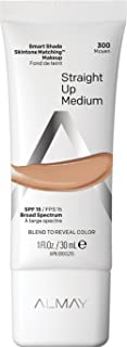 Best Almay Smart Shade Skintone Matching Makeup, Medium Coverage Natural Finish Foundation with SPF 15, Hypoallergenic, Cruelty Free, Fragrance Free, Dermatologist Tested, 300 Straight Up Medium, 1 oz Review