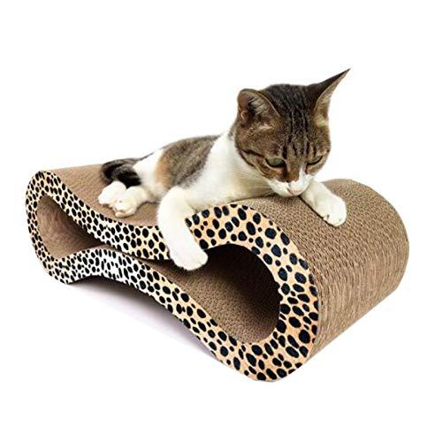 BCCDP Tiragraffi per Gatti Prodotto di Design in Cartone Ondulato Raschietto per Gatti Cat Scratcher Toy Ideale Come Lounge, Letto, Cuccia, Palestra e Graffiatoio Riciclabile