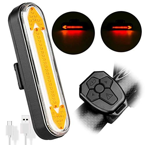 YIHGJJYP Fahrradrücklicht USB aufladbare Wasserdicht, LED-Fahrrad-Rücklicht mit Blinkern, Funk-Fernbedienung, für Cycling Safety