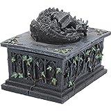 Nemesis Now Dragon Tarot Box Negro, resina, 18 cm