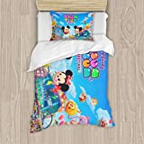 Tsum Bedding Set Cartoon Comforter Set with Pillowcases for Kids Boys Teens Duvet Quilt Cover Bed Set Twin