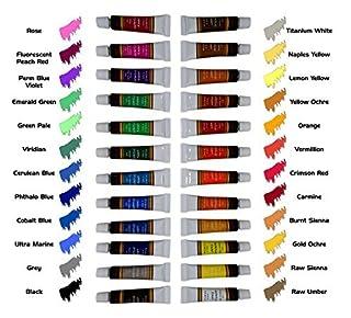 طلاء أكريليك طقم 24 لون من كرافت