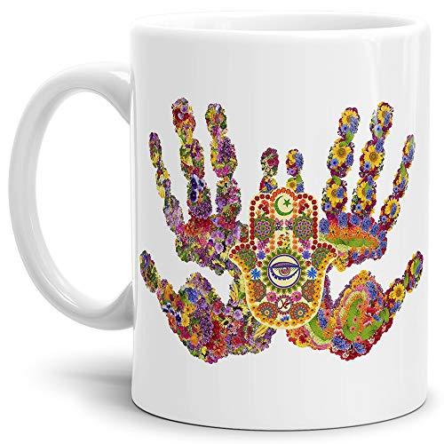 Tasse mit Design ?Fatimas Hand Ethno Style - Kaffeetasse/Mug/Cup - Qualität Made in Germany