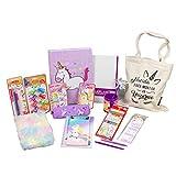Starplast, Pack Material Escolar, Set Material Escritorio, Lote Productos Escolar, Diferentes Productos, con Tarjeta Personalizable, Color Lila