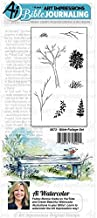 Art Impressions Journaling Watercolor Rubber Stamps-Bible Foliage
