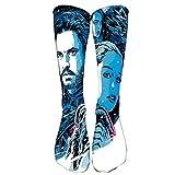 BBjhdfmer Game of Thrones Calcetines de deporte Calcetines populares largas que viajan 3D Impreso Calcetines casuales for unisex hombre y mujeres (Color : A02, Size : 40cm-70g)
