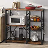 Tribesigns Kitchen Cart Baker's Rack, Microwave Oven Stand Industrial Utility Storage Shelf...