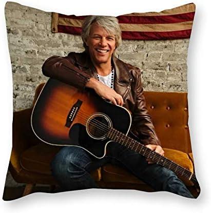 Jon Bon Jovi KussenPop ArtCanvas Kussensloop SingleZonder Vulkussen40x40cm alleen hoesje