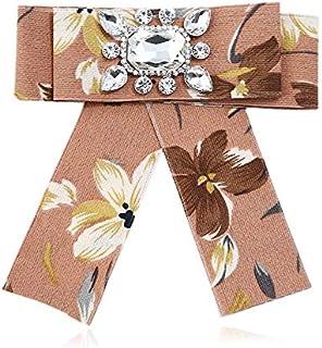 CBCJU Broche de Tendencia con Broche de Lazo de Tela de Diamantes 14 * 12.5cm