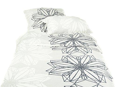 CORAVELLE Flausch Eiskristalle Bettwäsche QVC Einzelbett, 3-TLG. 836383SU935