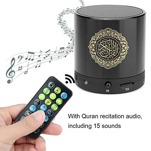 Digital Quran Player, 8 GB TF Drahtlose Fernbedienung USB Muslim Quran Lautsprecher, 19 Sprachen FM-Radio 5 Warr HD Lautsprecher Elektronisch sprechender Quran Reader Geschenk