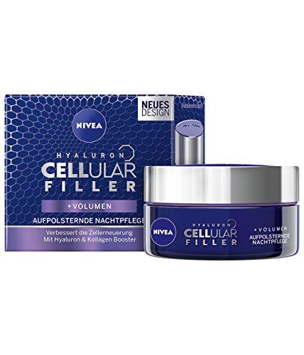 NIVEA Hyaluron Cellular Filler, 1er-Pack (1 x 50 ml), Anti-Age Aufpolsternde Nachtpflege, verbessert die Zellerneuerung