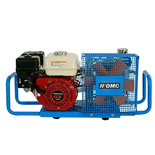 D Machinery 100L/Min 5.5-HP Gas-Powered Air Compressor 4500psi Gasoline Drive Air Filling Station, SCU100P