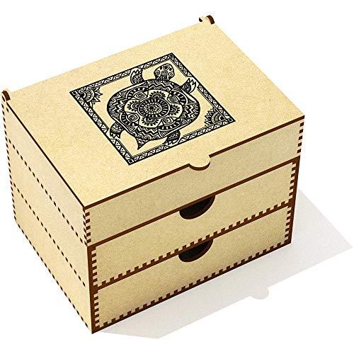 Azeeda 'Tortue Tribale' Boîte de Maquillage (VC00012502)
