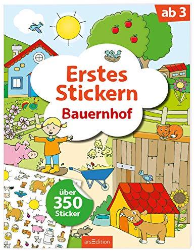 Erstes Stickern Bauernhof: Über 350 Sticker | Erstes Stickerheft für Kindergarten-Kinder ab 3 Jahren
