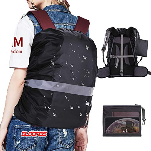 DLOONGS Waterproof Backpack Rain CoverPortable Ultralight Shoulder Protect Outdoor Tools (30-40L) (Medium)