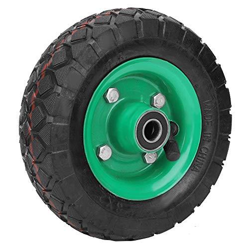 Kuuleyn Roue Gonflable de Pneu de 6 Pouces, Pneu 250kg 36psi de Chariot de Chariot de catégorie Industrielle résistant à l'usure