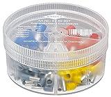 Knipex 97 99 907 Caja de Surtidos con Punteras aisladas, gris, amarillo, rojo, azul, size