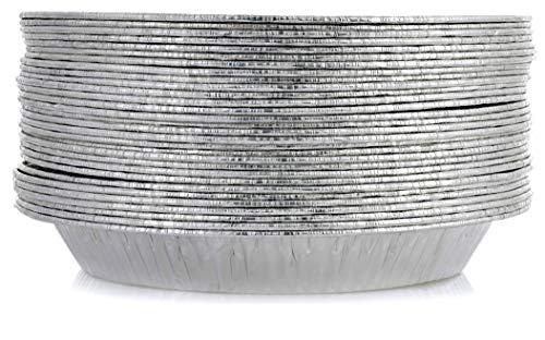 Pie Pans [30 Pack - 9' Size] - Disposable Aluminum Foil Pie Plates, Standard Size Pie Tins