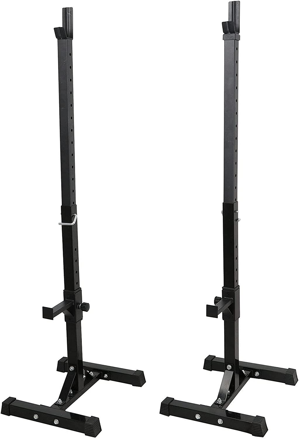 ZLYY Pair of Adjustable Rack Sturdy Squat Free shipping anywhere in the nation Barbell Super-cheap Bench Pr Steel