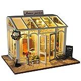 Miniatur Puppenhaus Kit DIY Mini Dolls House Kits Blumengeschäft Kuchenladen Braut Laden Mit LED...