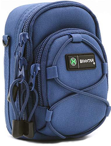 Baxxtar Bluestar V4 Kameratasche blau Größe (L) kompatibel mit Coolpix S9900 A900 A1000 - Lumix DC TZ202 TZ96 TZ91 DMC TZ101 TZ81 LX15 - PowerShot SX730 SX740