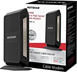 NETGEAR DOCSIS 3.1 Gigabit Cable Modem. Max download speeds of 6.0 Gbps, For XFINITY by Comcast, Spectrum, and Cox. Compatible with Gig-Speed from Xfinity (CM1000)