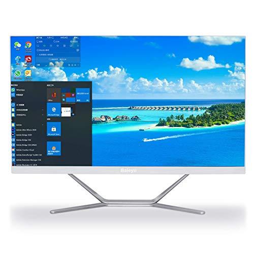 All in One Baieyu All in One pc 21.5 Pulgadas Intel Core i3-5005U,All in One Windows 10 Pro 8GB RAM,128GB SSD+1TB HDD,Mouse y Teclado inalámbricos,HDMI+VGA,WiFi,Bluetooth
