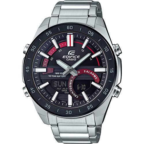 Reloj analógico de Cuarzo Digital para Hombre con Correa de Acero Inoxidable de Casio