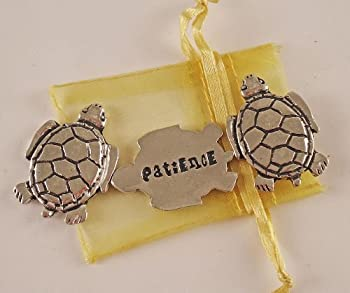 Set of 3 Turtle Patience Inspiration Coins with Organza Bag
