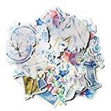 Navy Peony Blue Unicorn Stickers and Dreamy Decals (23 Pieces) | Aesthetic Stickers